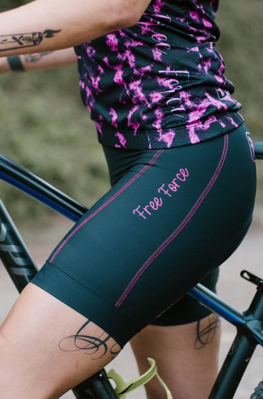 Bermuda Ciclismo Feminina Mona Costura Rosa - Free Force