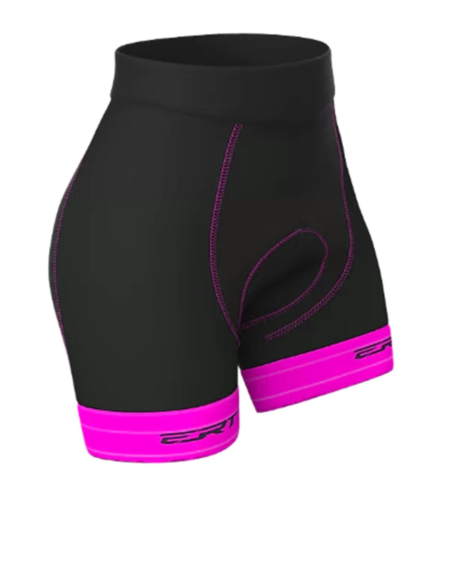 Bermuda Ciclismo Feminina Tour Pto/Rosa -  ERT