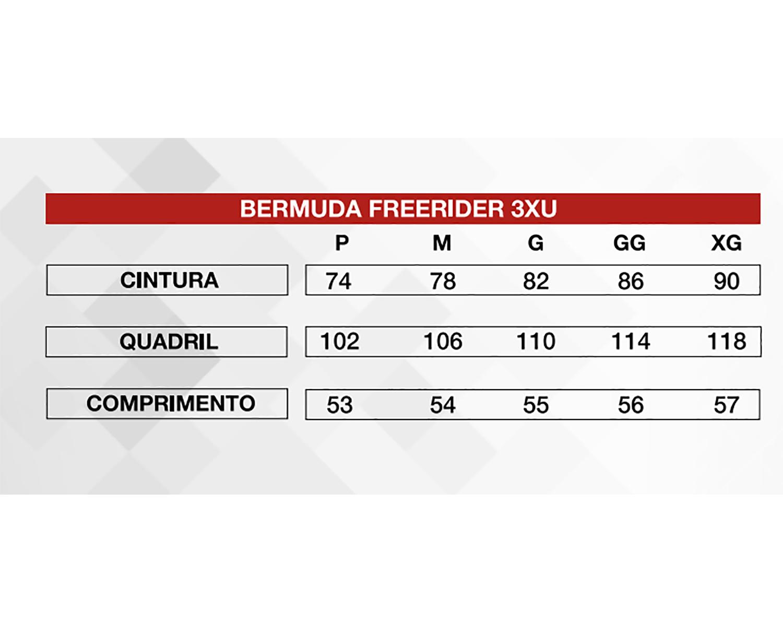 Bermuda Ciclismo Masculina Freerider 3XU Cinza - Refactor