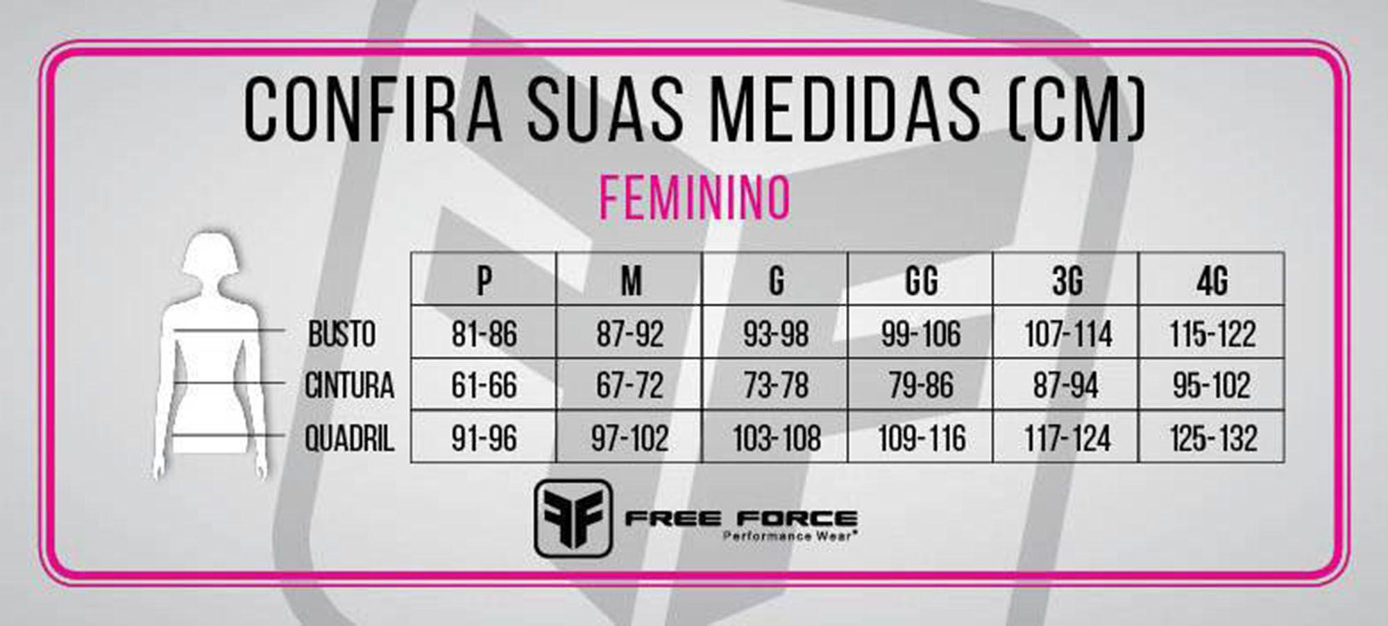Bermuda Feminina Training Scalpel Preta - FREE FORCE