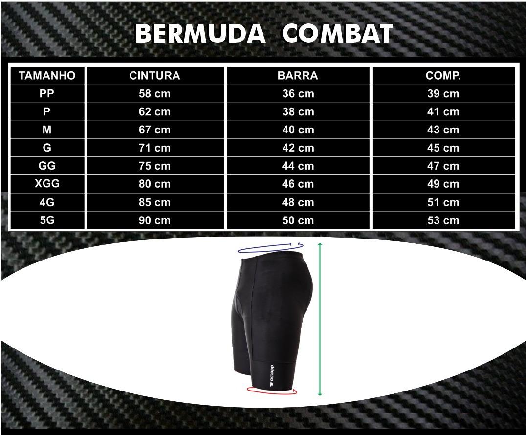 Bermuda Masculina Combat Preta - Ciclopp