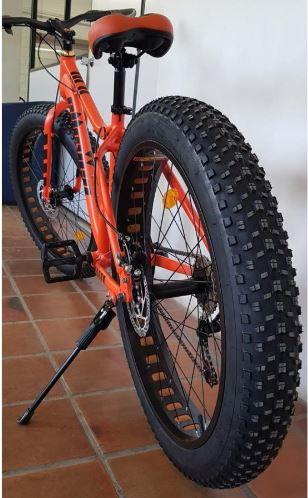 Bicicleta Aro 26 Fat Aliens Laranja 21v Elleven