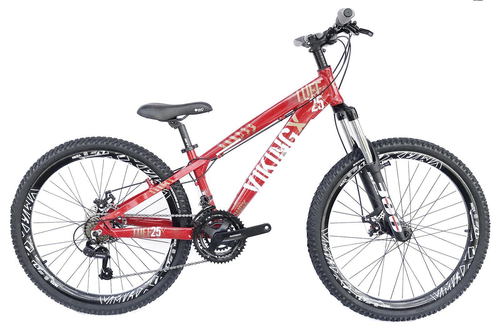 Bicicleta Aro 26 Viking 21v Shimano Freio a Disco Suspensao Spinner 300