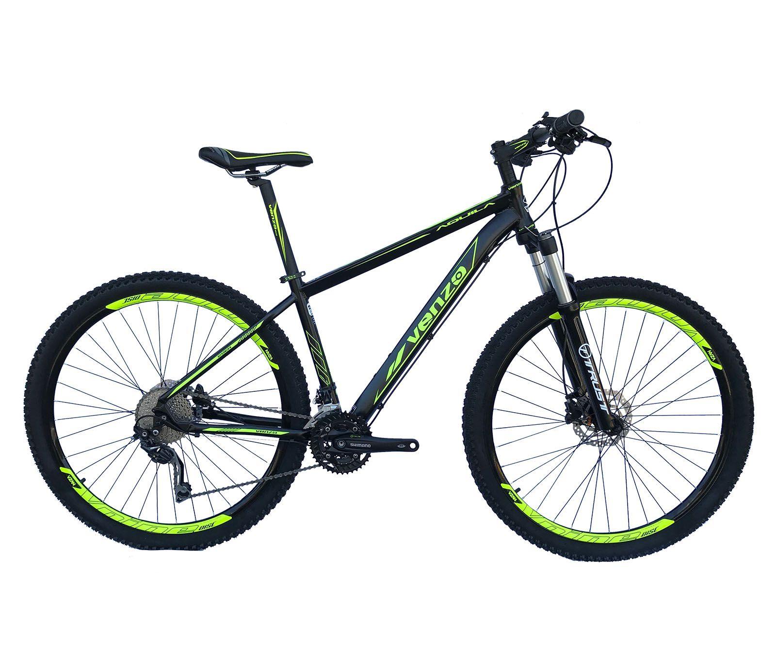 Bicicleta Aro 29 Aquila Venzo Deore 30v Freio Hidraulico Suspensão a Ar Trava no Guidão