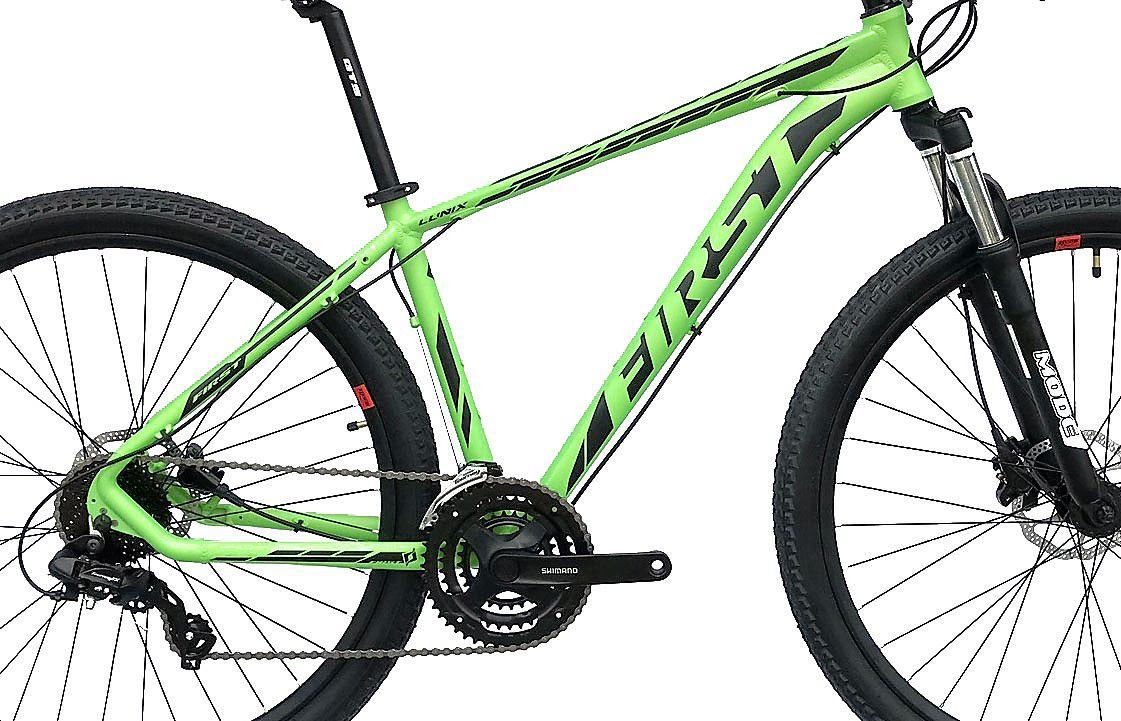 Bicicleta Aro 29 First Lunix 24v Freio Hidraulico Susp c/ Trava Ombro