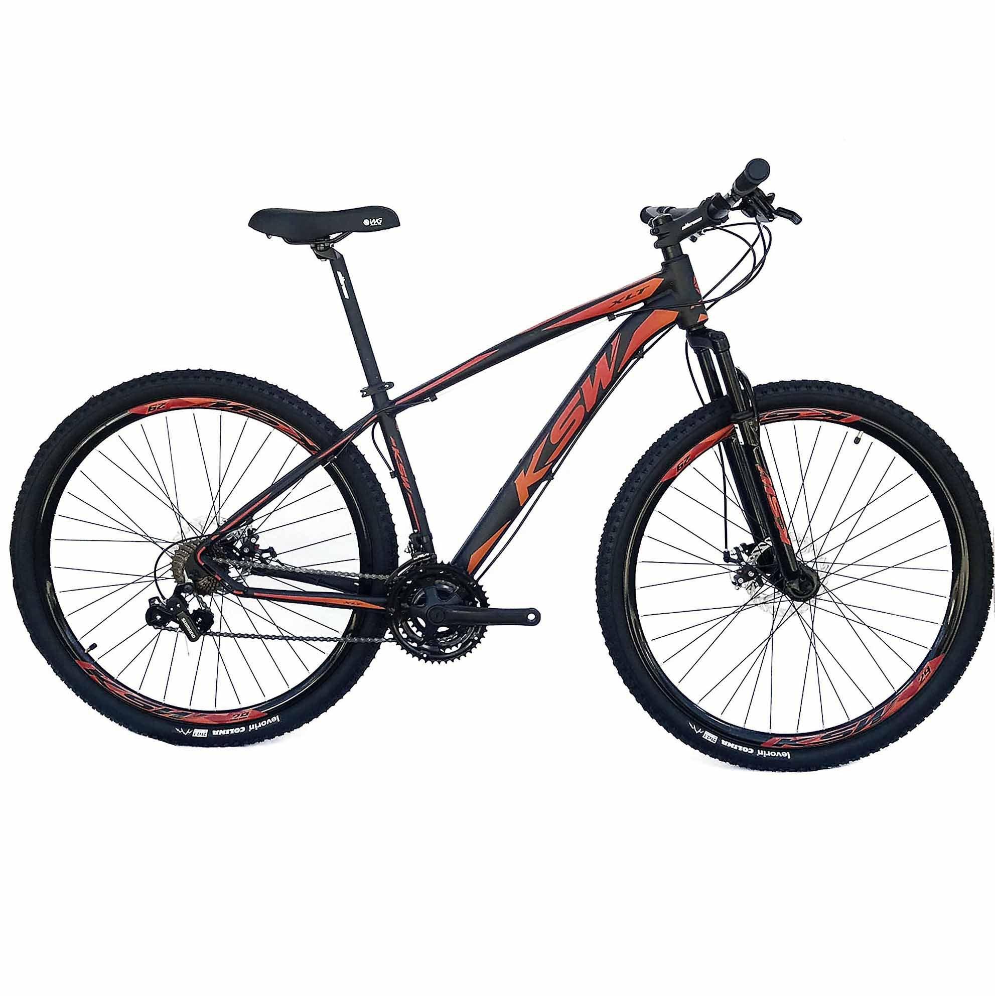 Bicicleta Aro 29 KSW 21V Câmbios Shimano PDV/Alav Import Freio a Disco