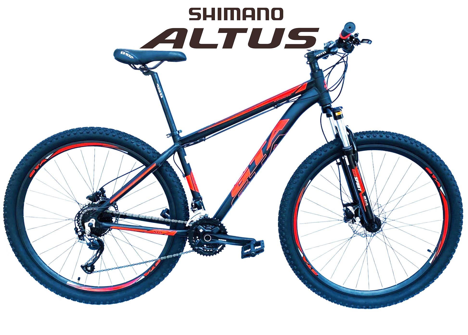 Bicicleta Aro 29 NX11 GTA 27v Altus Freio Hidraulico Susp Trava Ombro