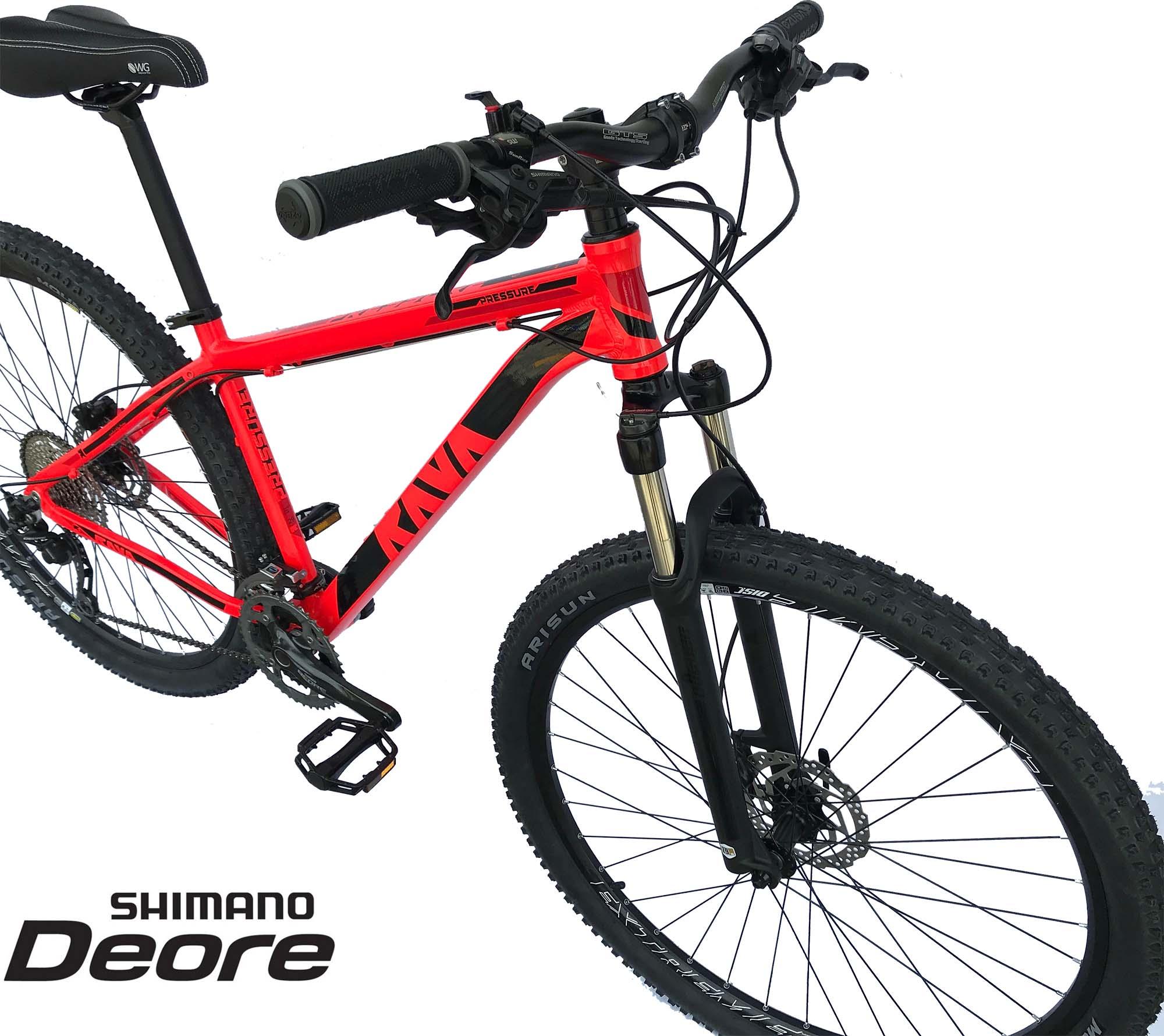 Bicicleta Aro 29 Pressure Rava Deore 30v Freio Hidraulico Suspensão Trava no Guidão