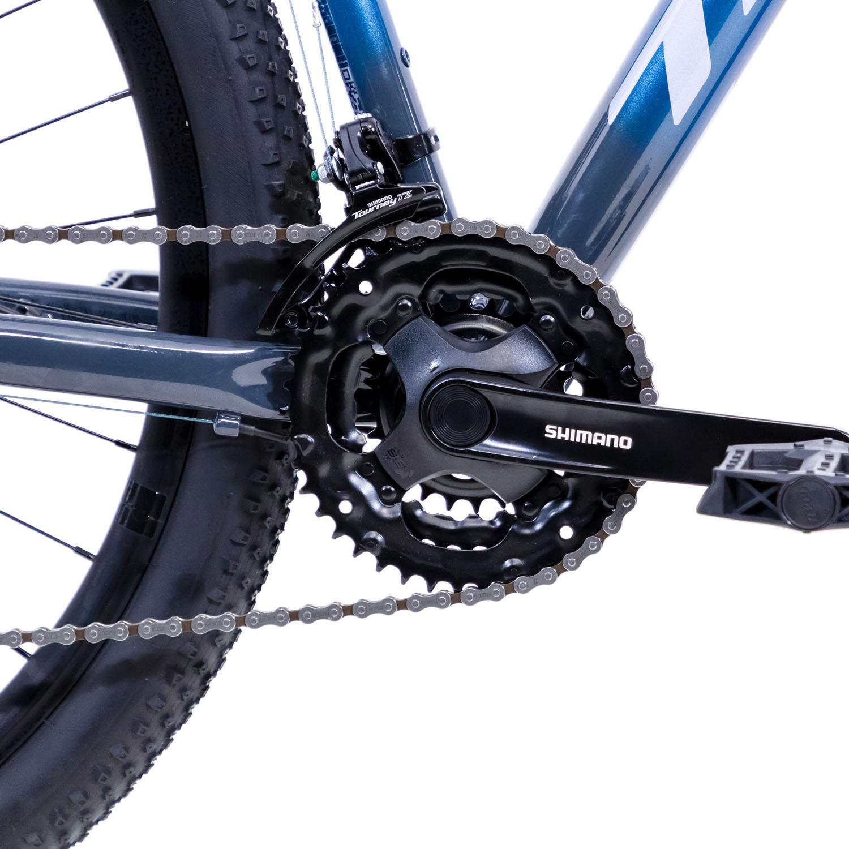 Bicicleta Aro 29 Ride Plus Azul Metalico/Cinza 21v Freio Hidraulico - TSW
