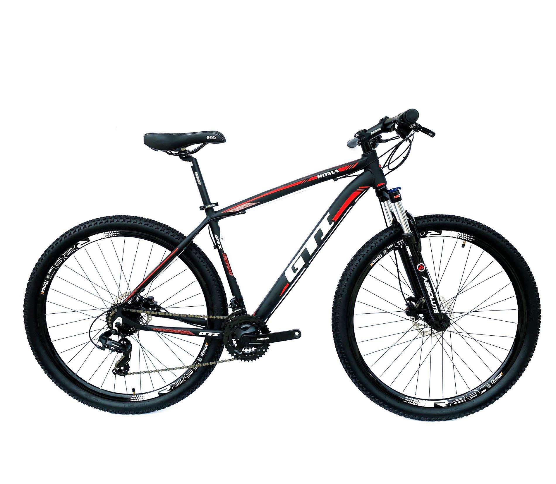 Bicicleta Aro 29 Roma GTI 24v Cambios PDV Shimano Freio Hidraulico Susp c/ Trava Ombro