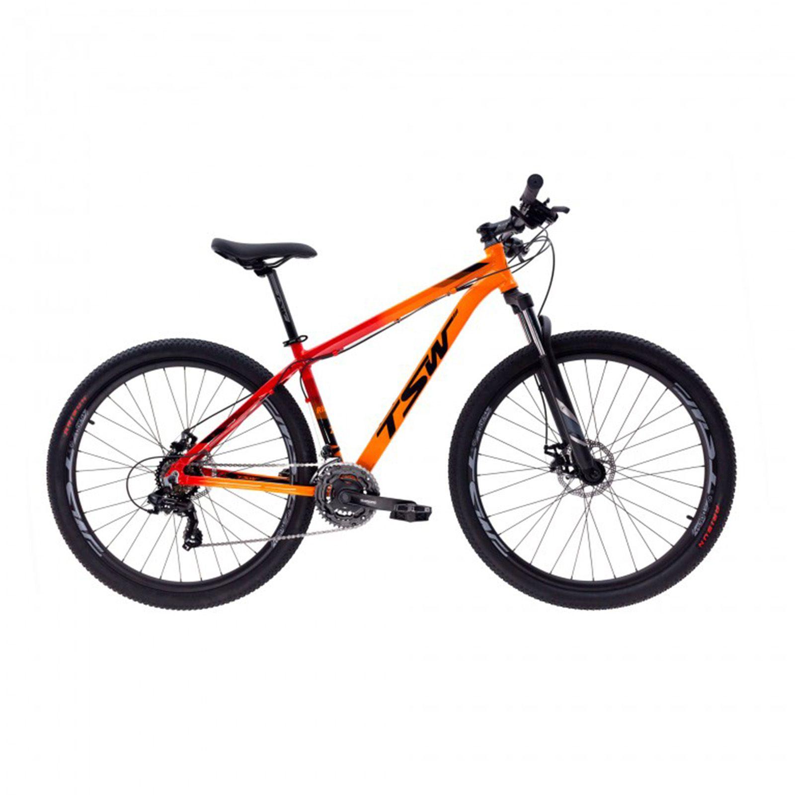 Bicicleta Aro 29 TSW Ride Laranja/Vermelho  21v Shimano Freio a Disco