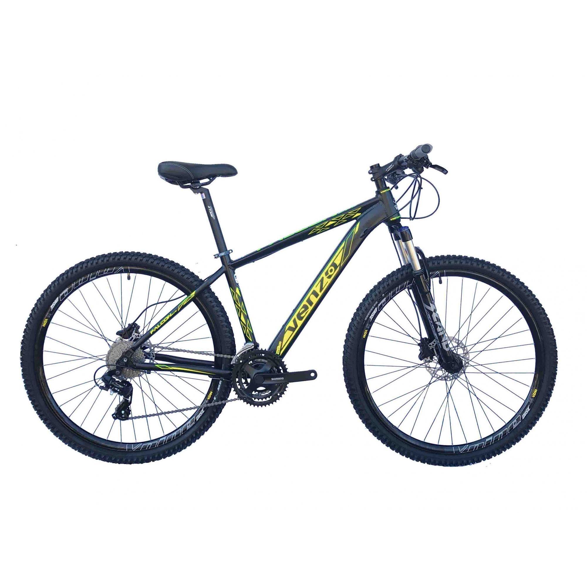 Bicicleta Aro 29 Venzo Falcon Evo 24v Shimano Freio Hidraulico Susp c/ Trava Ombro
