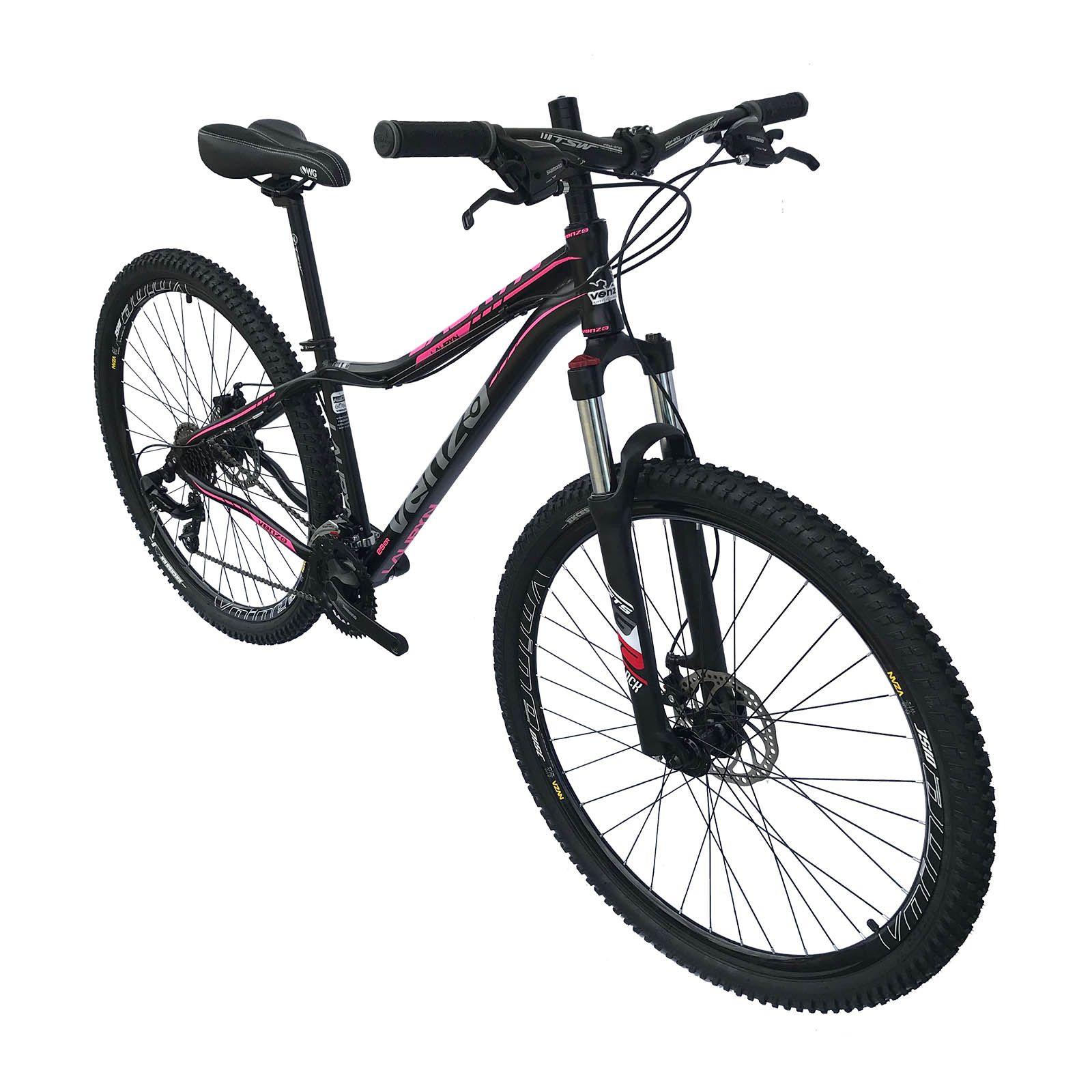 Bicicleta Feminina Aro 29 Lauryn Venzo 24v Shimano Freio a Disco Susp Trava Ombro