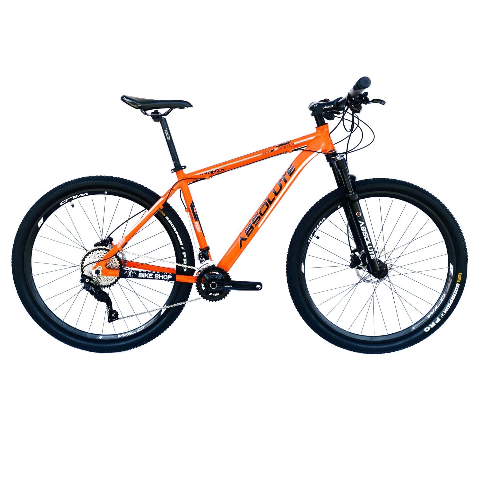 Bicicleta Nero Laranja 20v Suspensão com Trava no Guidão - Absolute