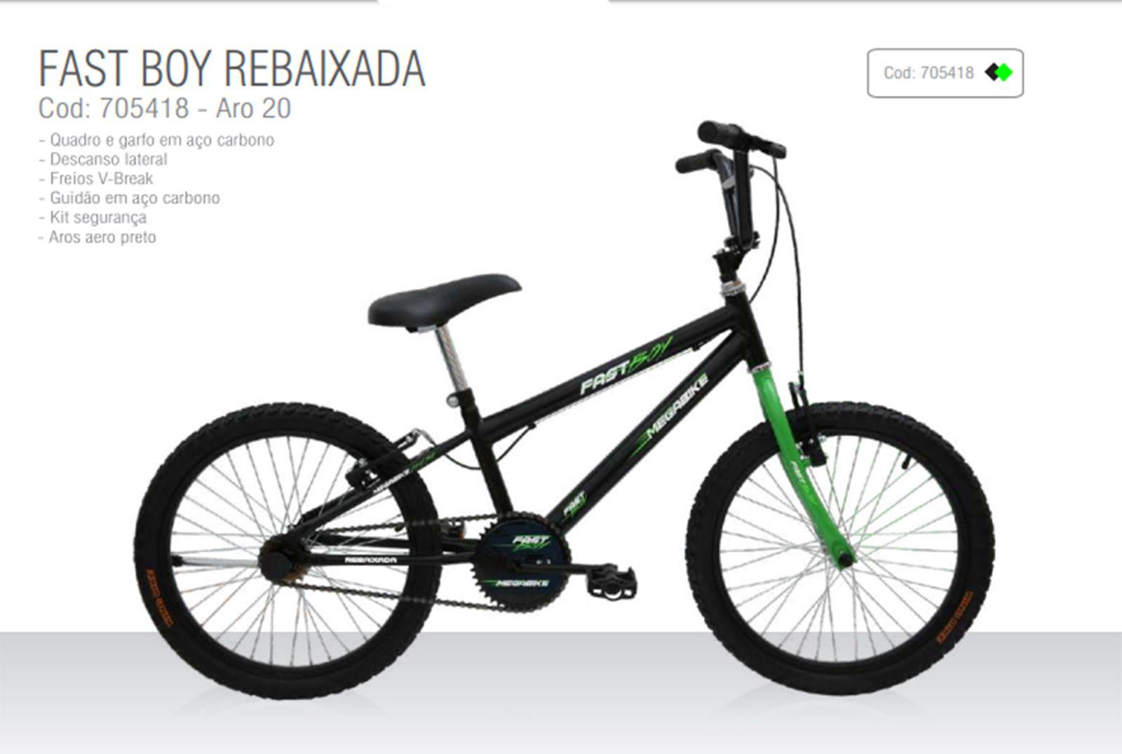 Bike aro 20 Rebaixada Fast Boy - Mega Bike