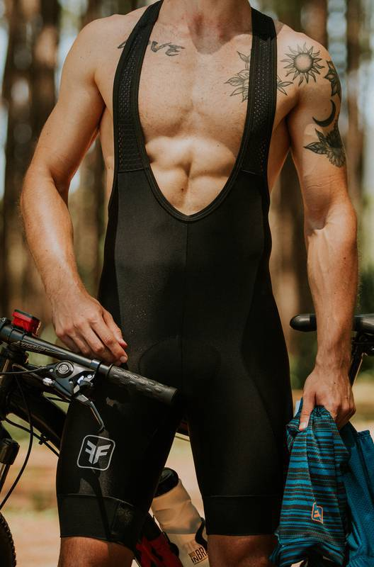 Bretelle Ciclismo Masculina New Basic Preto - Free Force