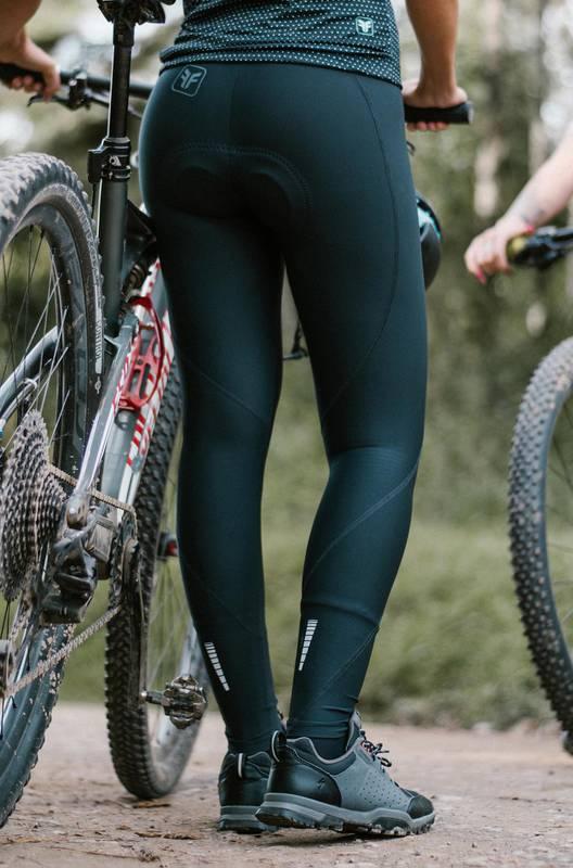 Calça Feminina Ciclismo Sport Mona Forro Invert Comp Preto/Turquesa - Free Force