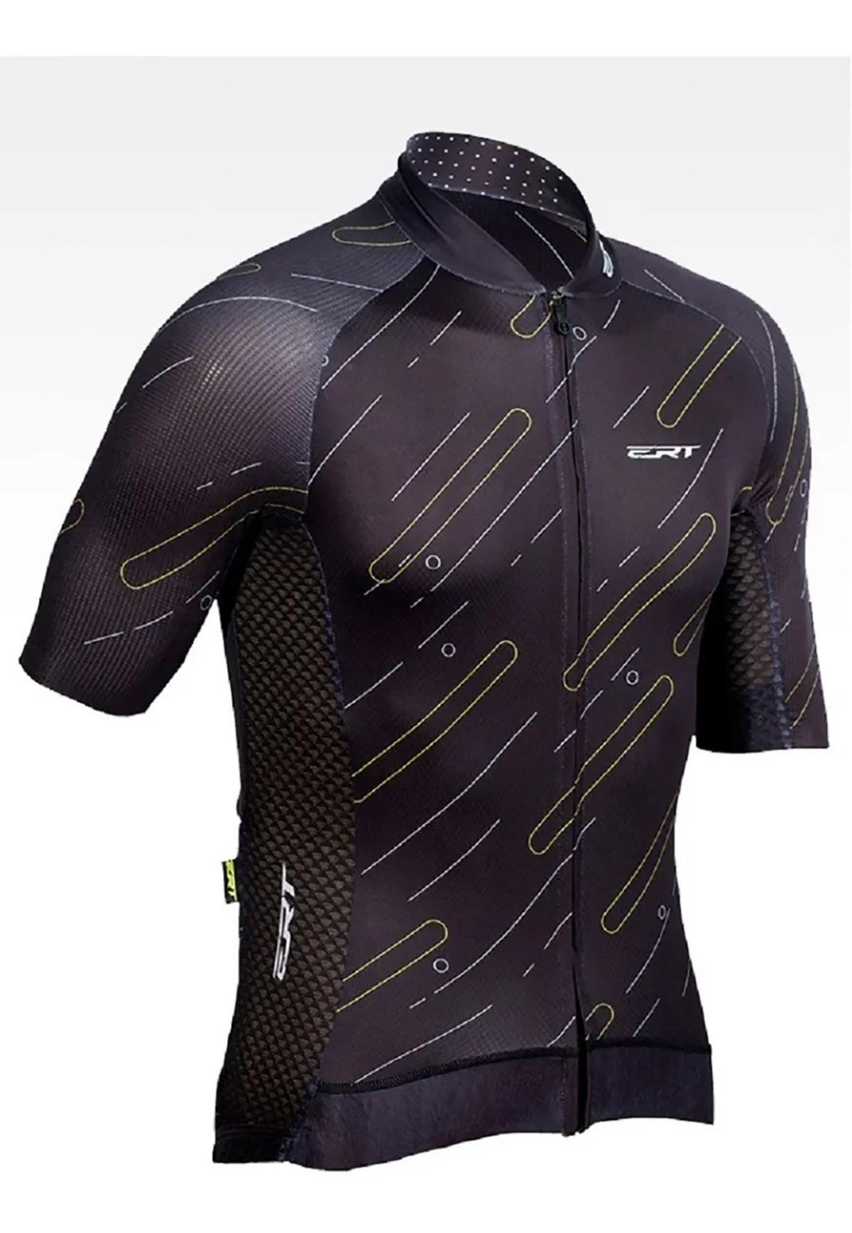 Camisa Ciclismo Black Premium Modelagem Slim - ERT