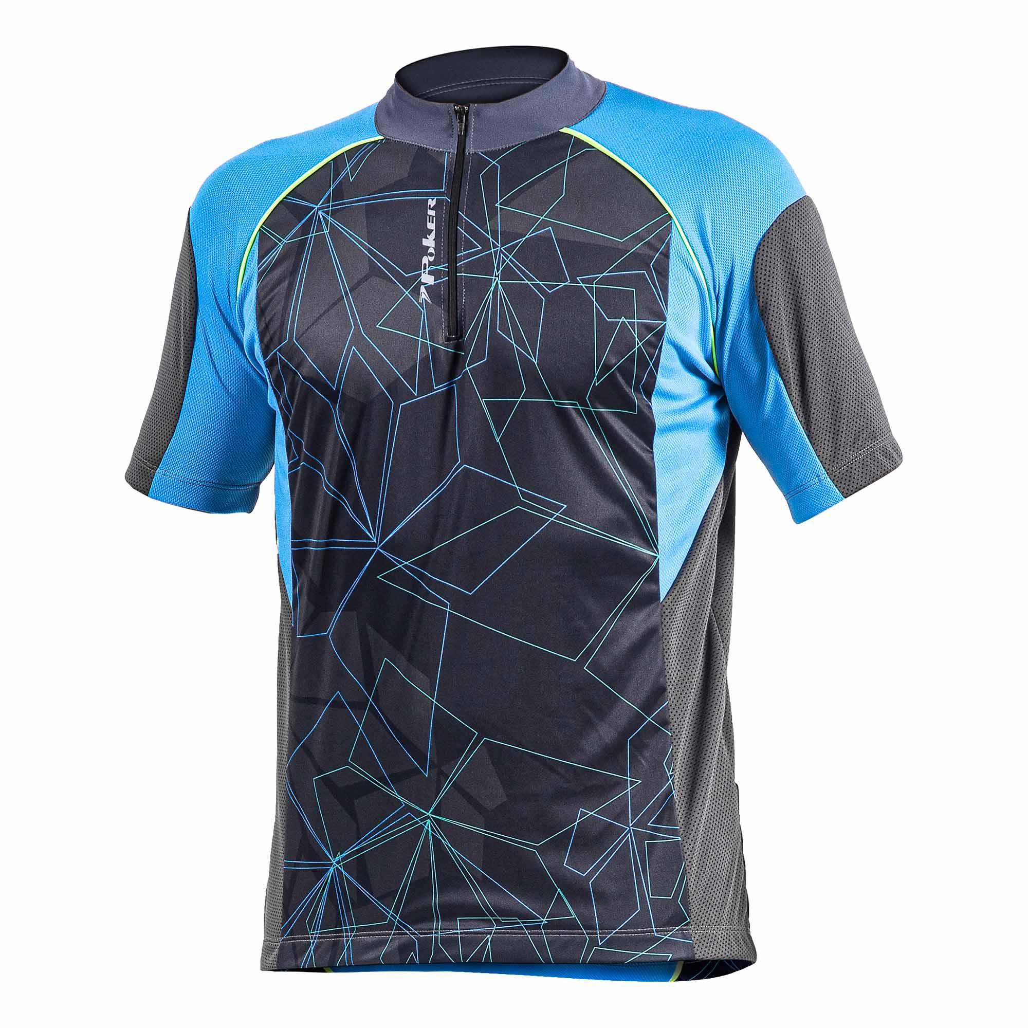 Camisa Ciclismo Dare Cinza/Azul - Poker