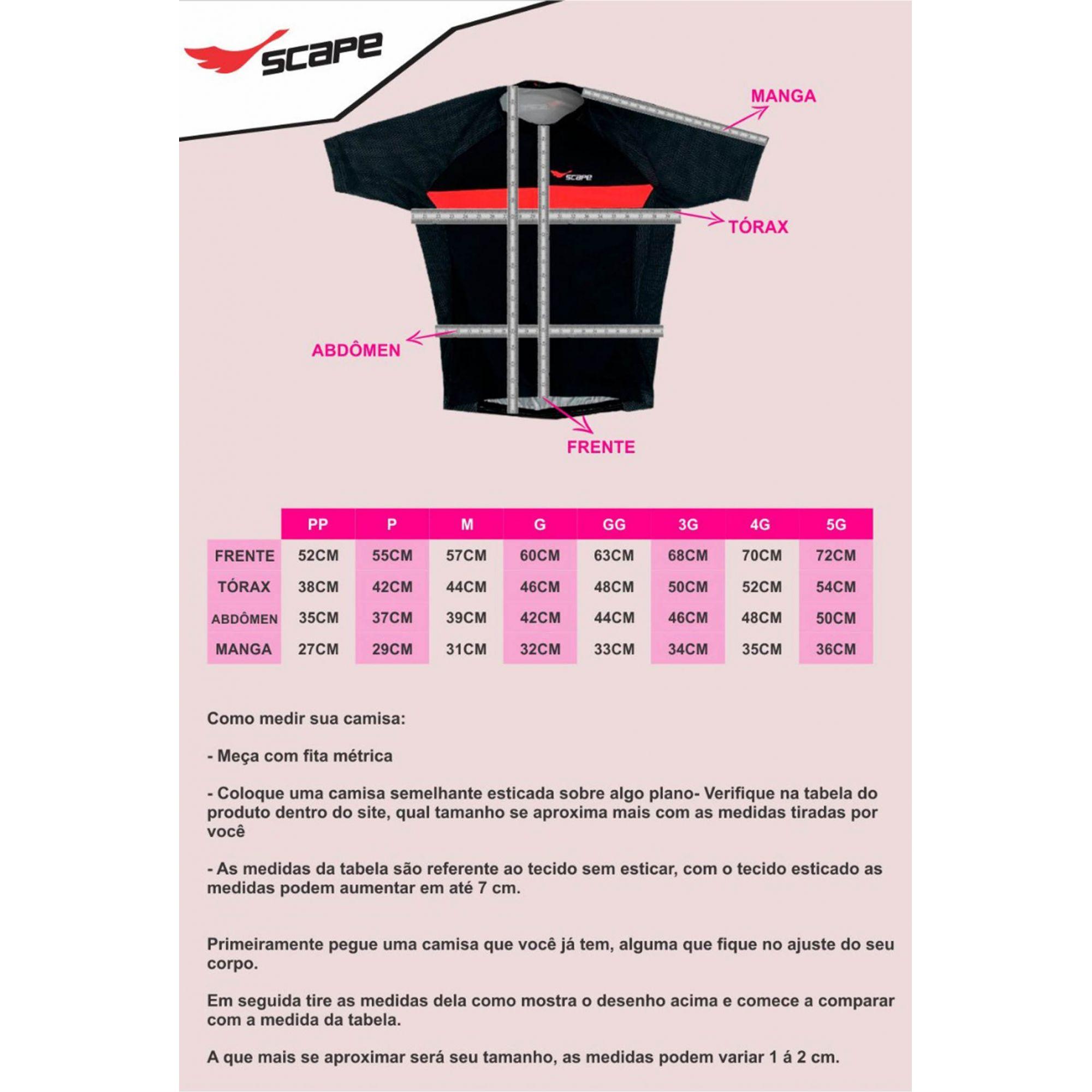 Camisa Ciclismo Feminina Cat c/ Proteção UV - SCAPE