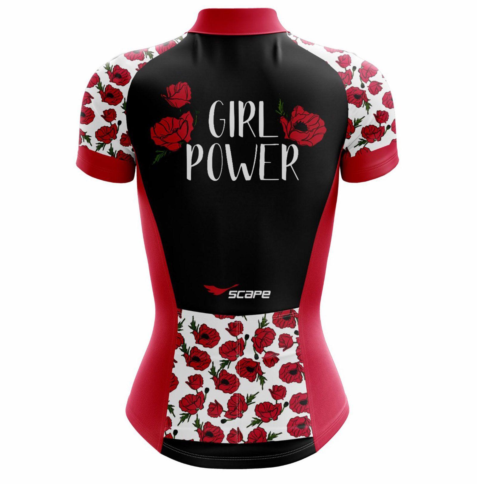 Camisa Ciclismo Feminina Girl Power c/ Proteção UV - SCAPE