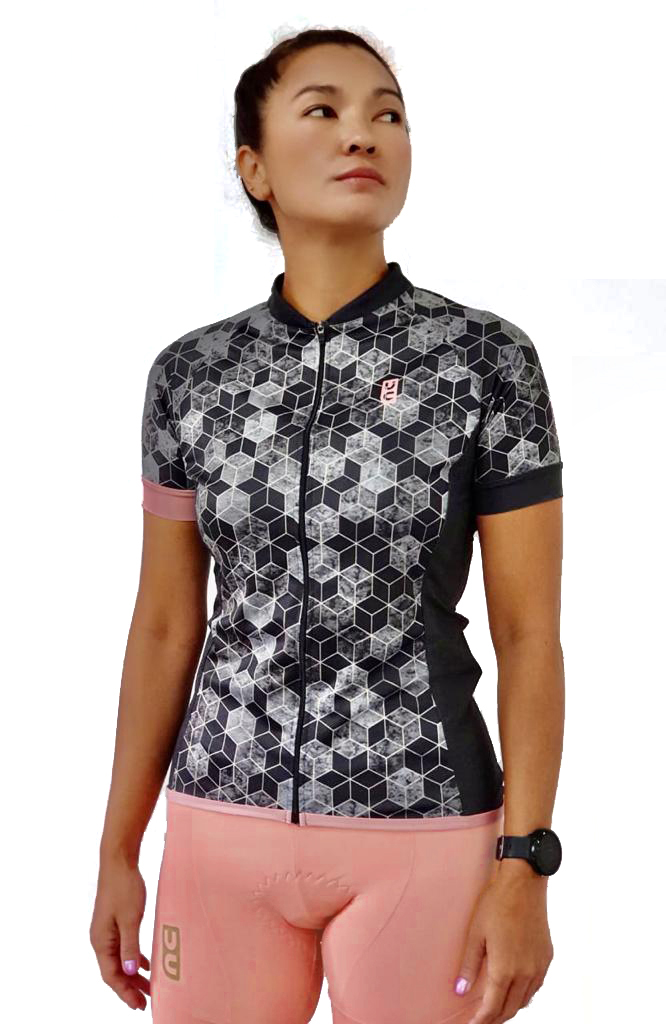 Camisa Ciclismo Feminina New Abstract  - Ultra Core