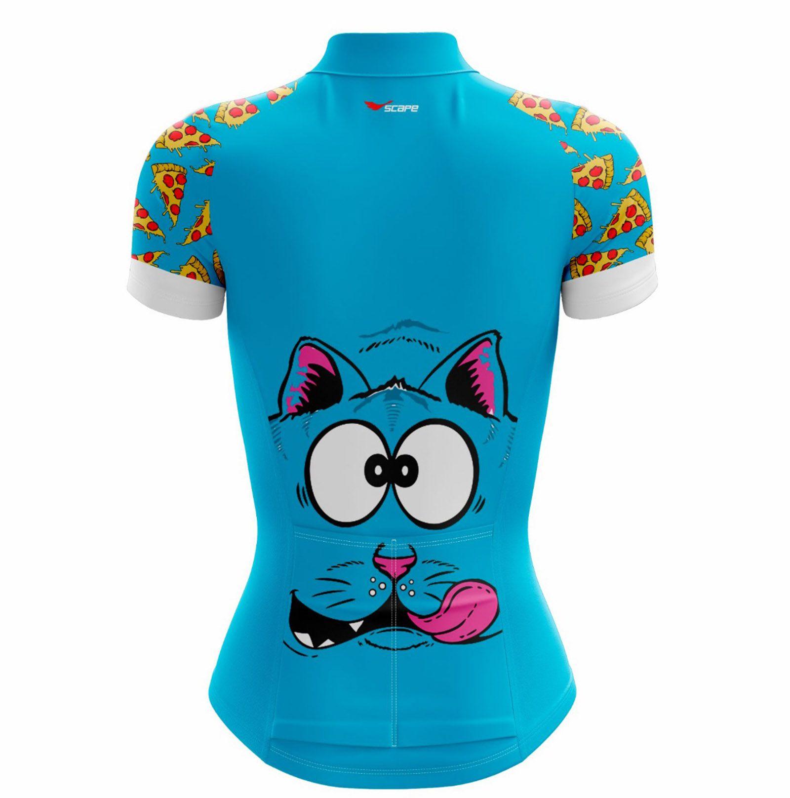 Camisa Ciclismo Feminina Pizza c/ Proteção UV - SCAPE