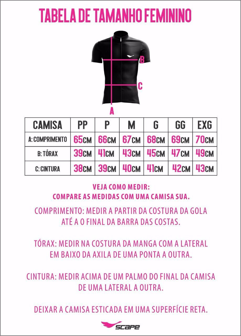 Camisa Ciclismo Feminina RECRUTA - Scape