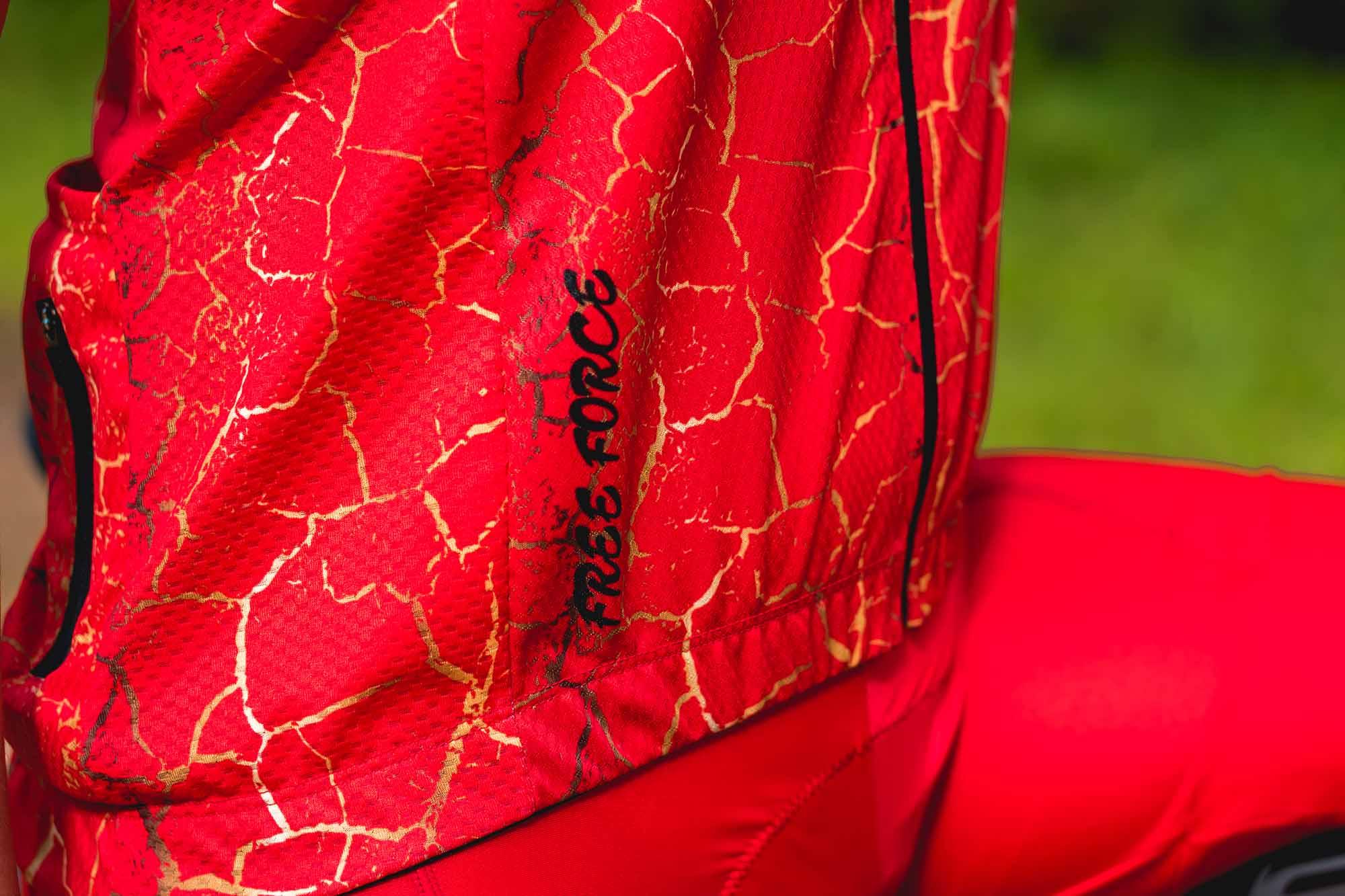 Camisa Ciclismo Feminina Sport Ruby Vermelha - FREE FORCE