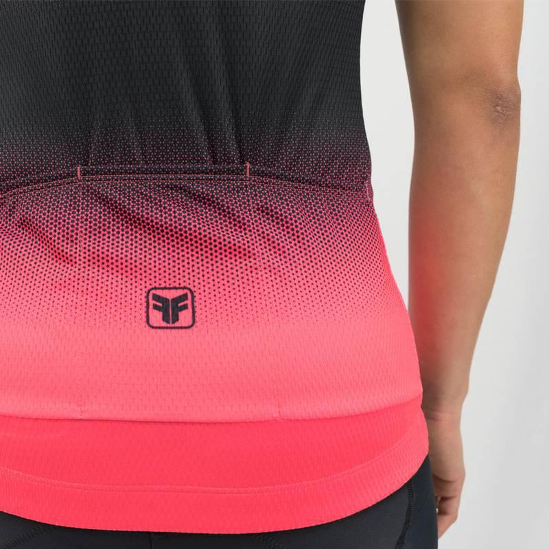 Camisa Ciclismo Feminina Star Coral  - Free Force