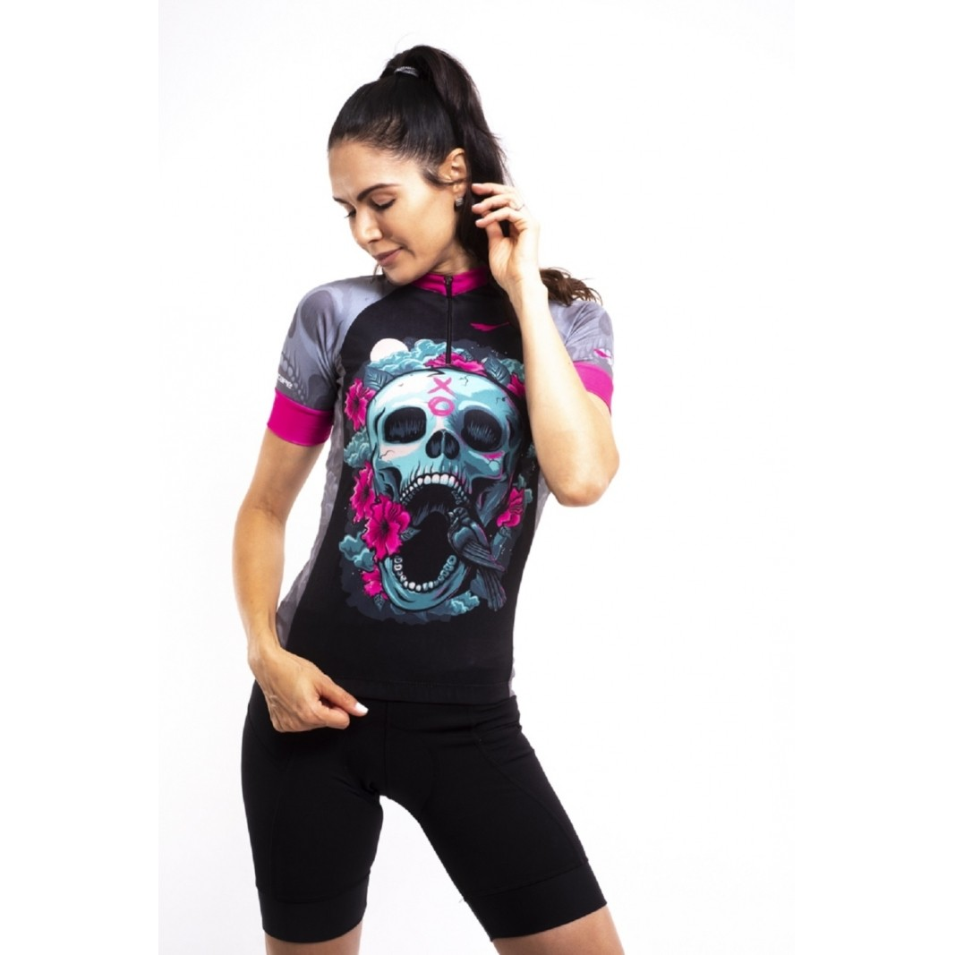 Camisa Ciclismo Feminina Trevosa c/ Proteção UV - SCAPE