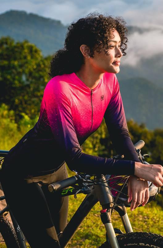 Camisa Ciclismo Manga Longa Sport Speckle - Free Force