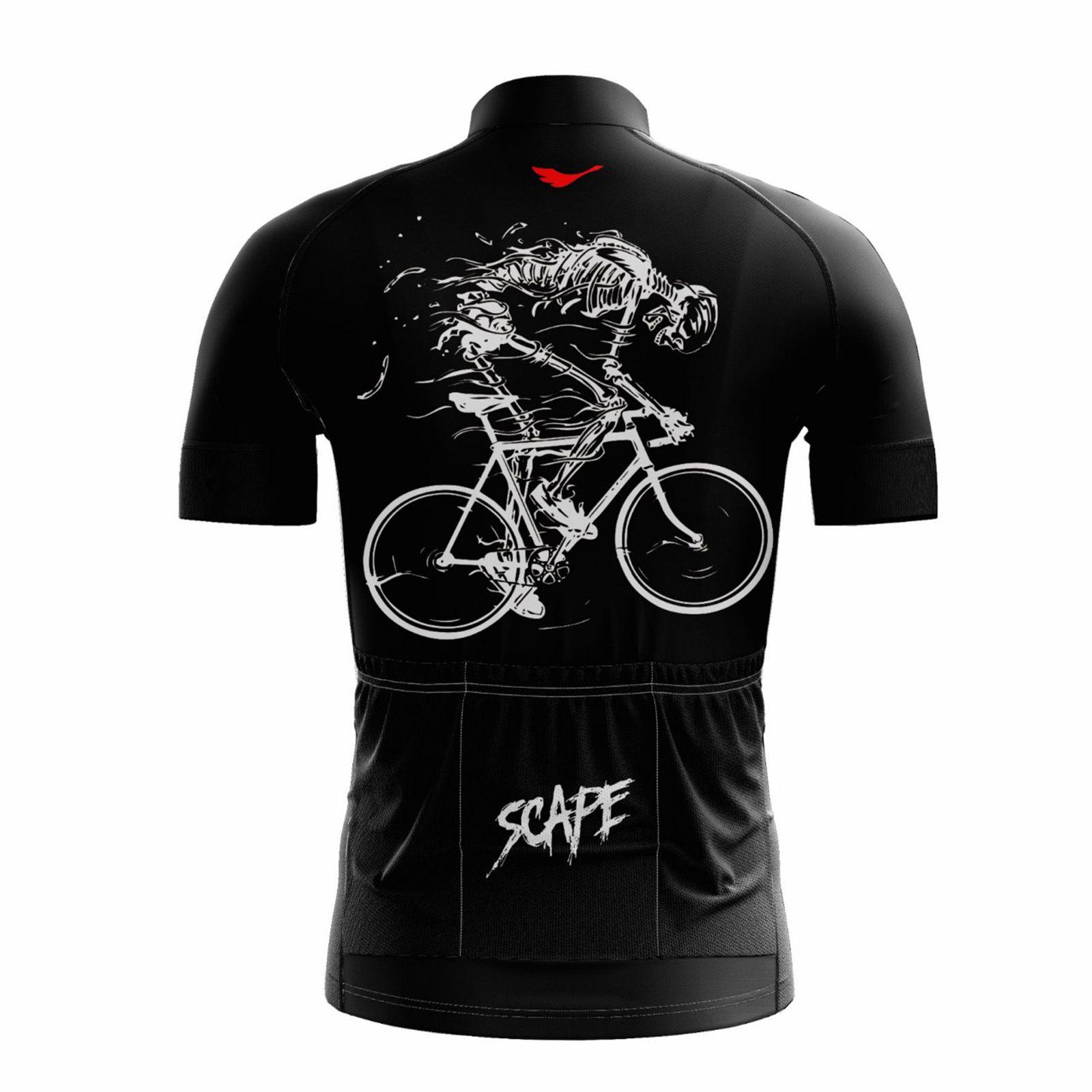 Camisa Ciclismo Masculina Esqueleto c/ Proteção UV - SCAPE