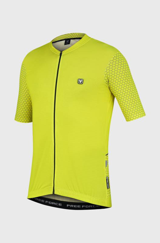 Camisa Ciclismo Masculina Grids - Free Force