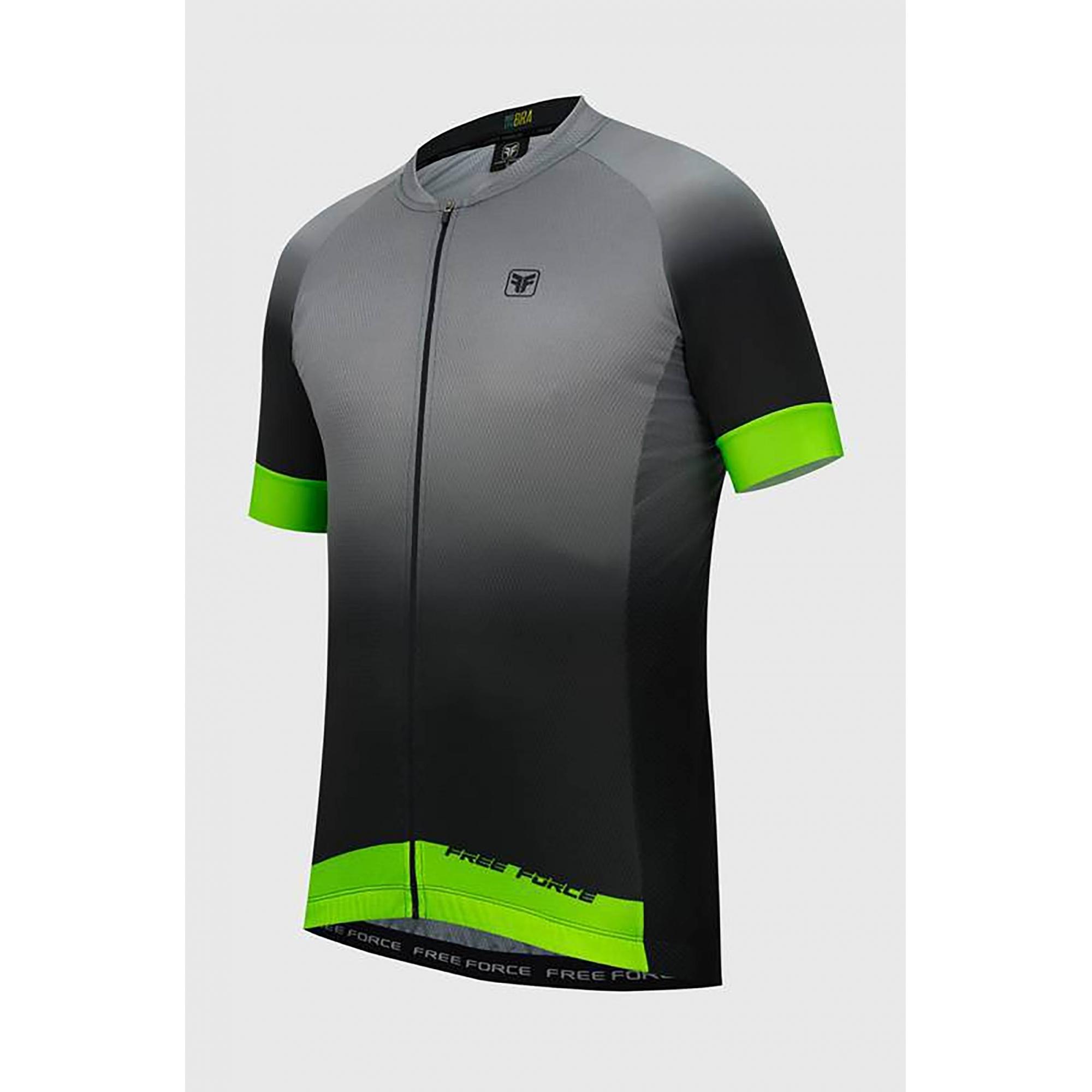 Camisa Ciclismo Masculina Sport Ash Preto/verde - Free Force