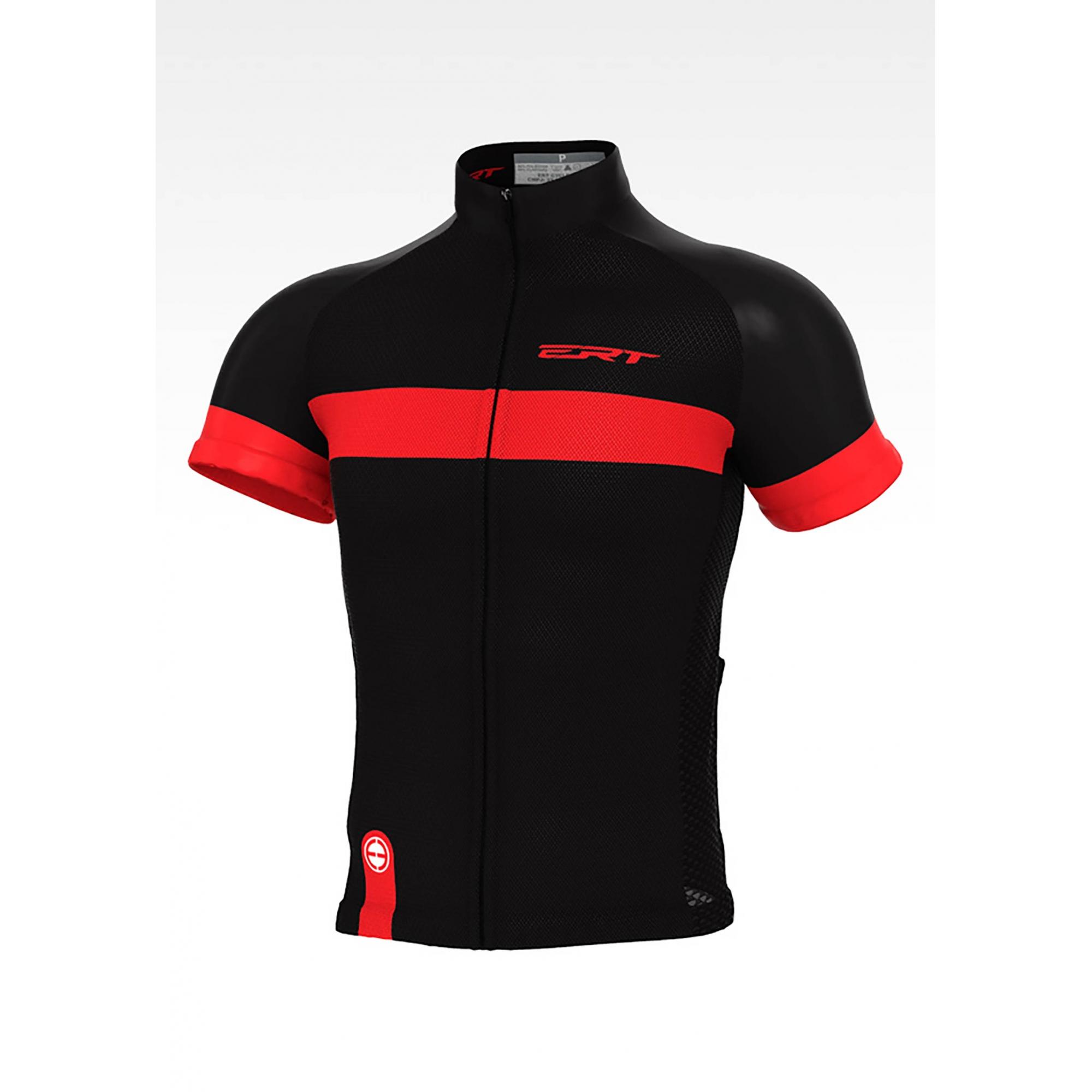 Camisa Ciclismo Nova Tour Strip Black Red - ERT