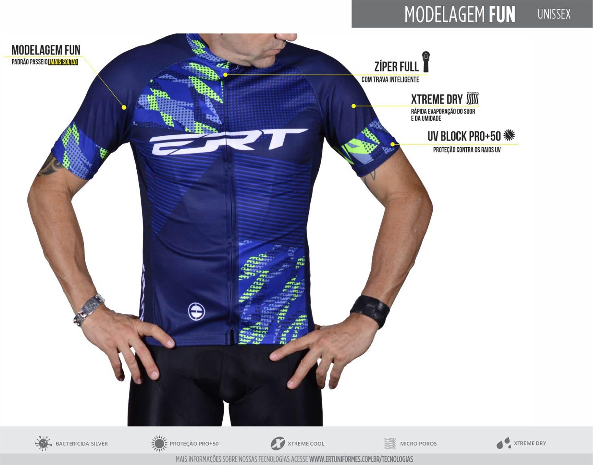 Camisa Ciclismo Nova Tour Strip Orange - ERT