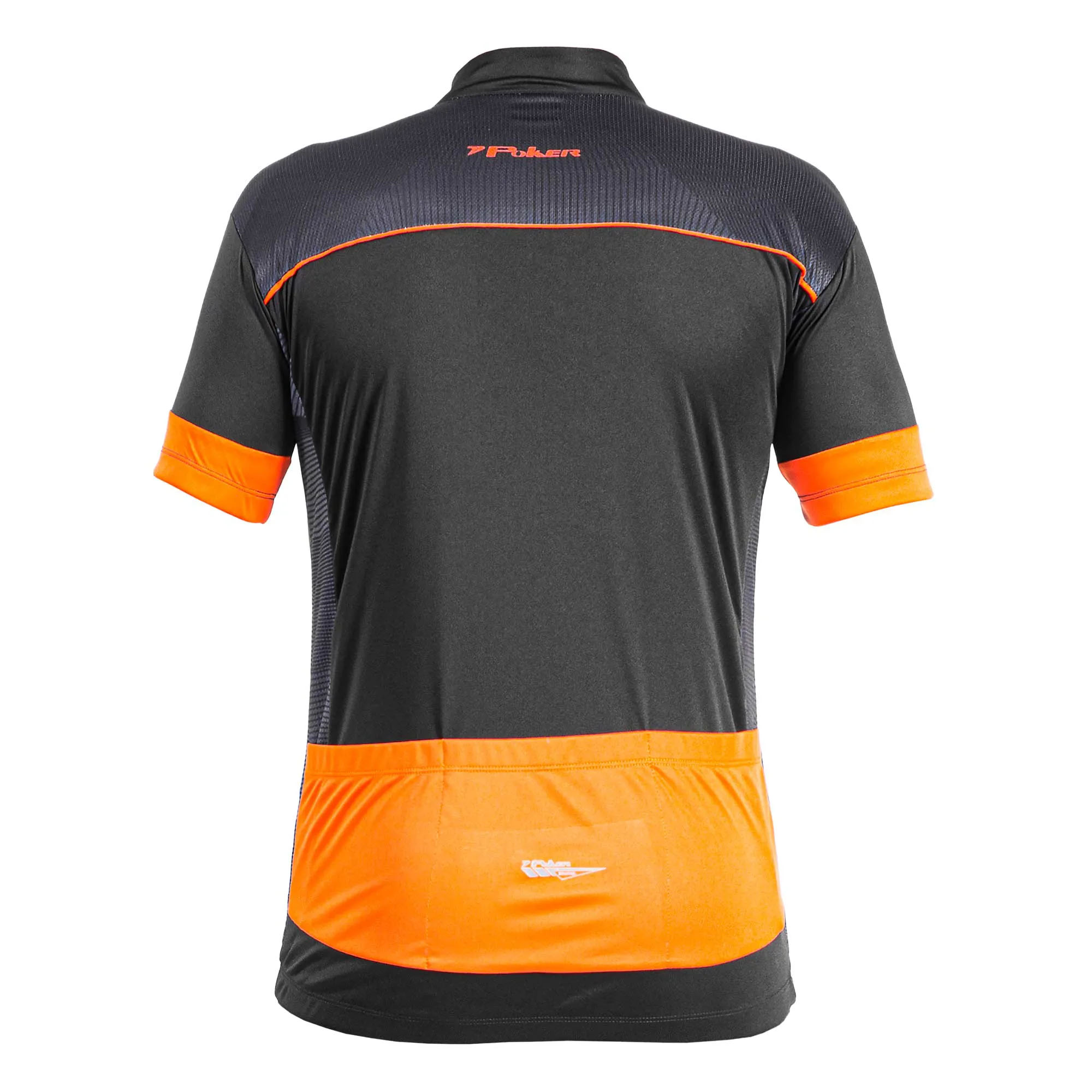 Camisa Ciclismo Roads Preto/Laranja  - Poker
