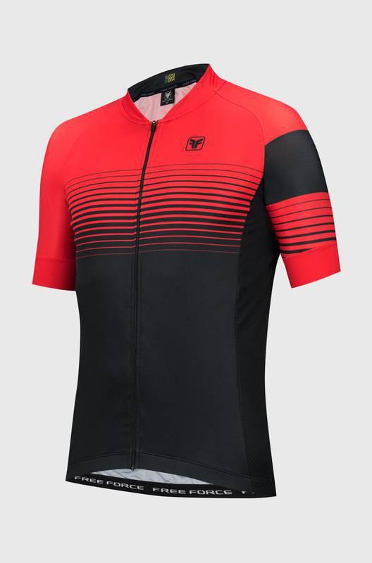 Camisa Ciclismo Sport Reddish Preto/Vermelho  - Free Force