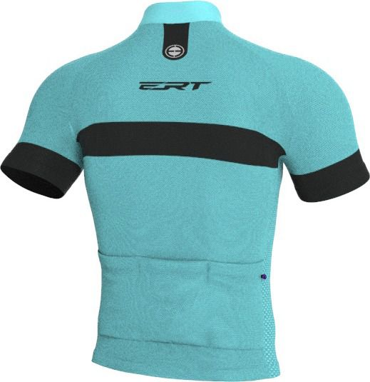 Camisa Ciclismo Tour Strip Azul Turquesa  - ERT