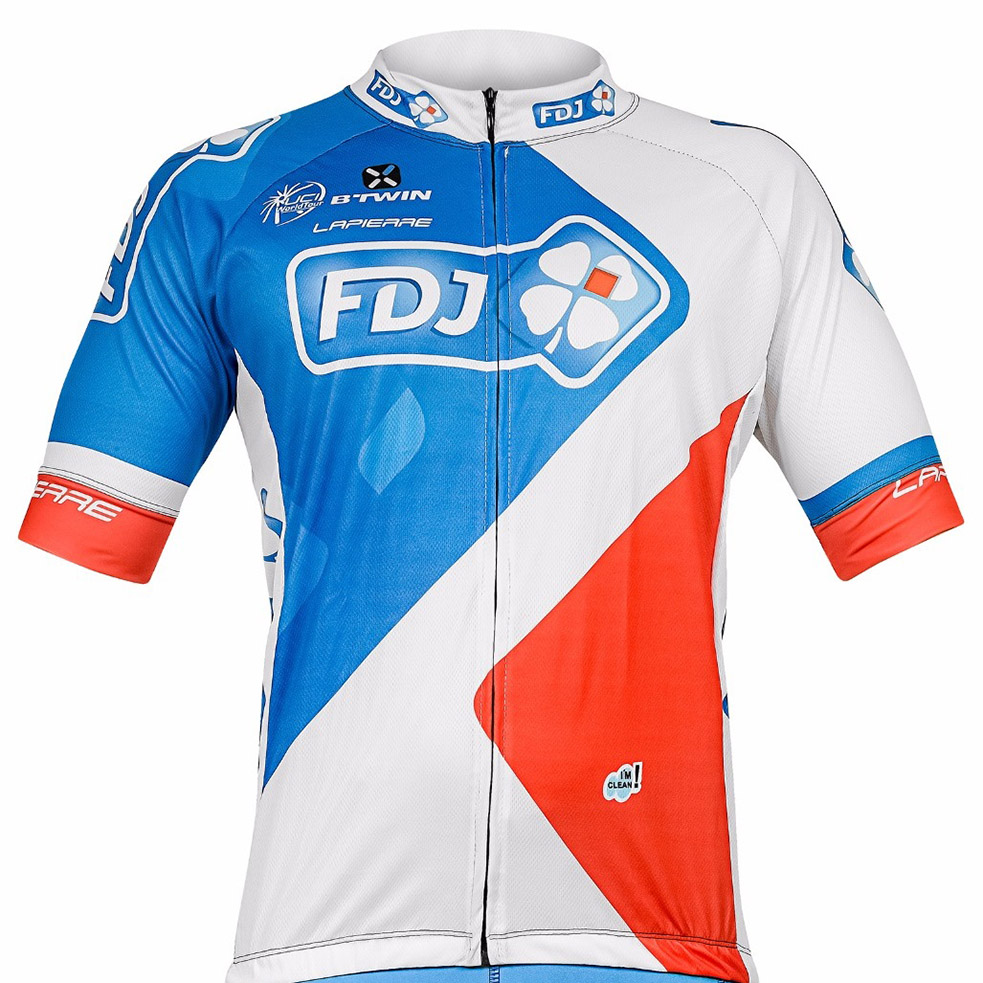 Camiseta Ciclismo FDJ World Tour original refactor com proteção UV50 -  Londrina BikeShop 9562290a8b779