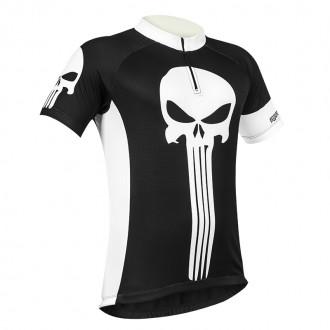 Camiseta Ciclismo  Justiceiro com refletico e proteção UV50