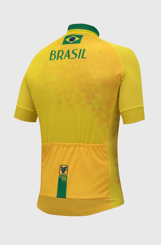 Camiseta Ciclismo Masculina Brasil - Free Force