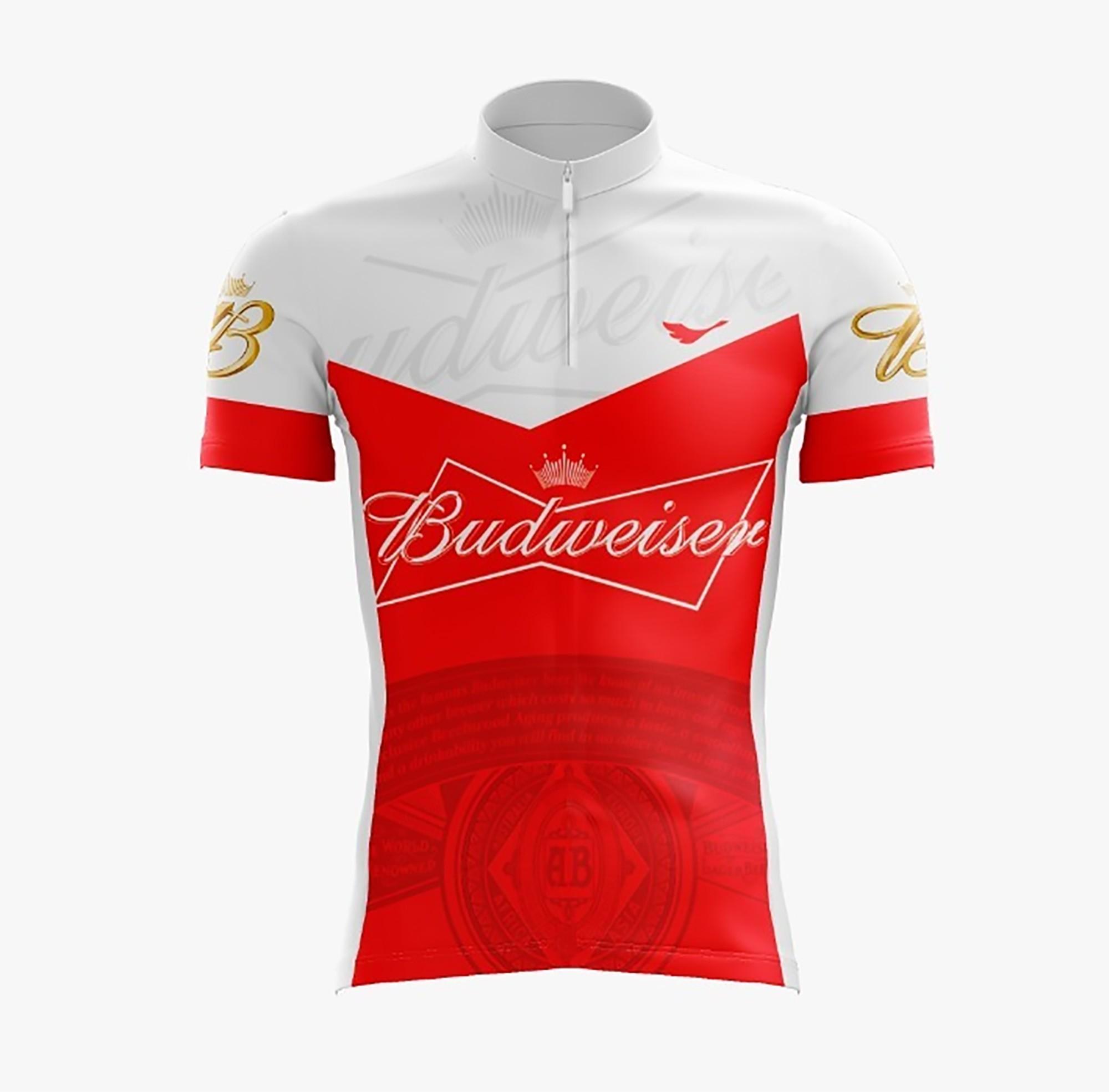 Camiseta Ciclista Masculina Budweiser com Proteção UV - Scape