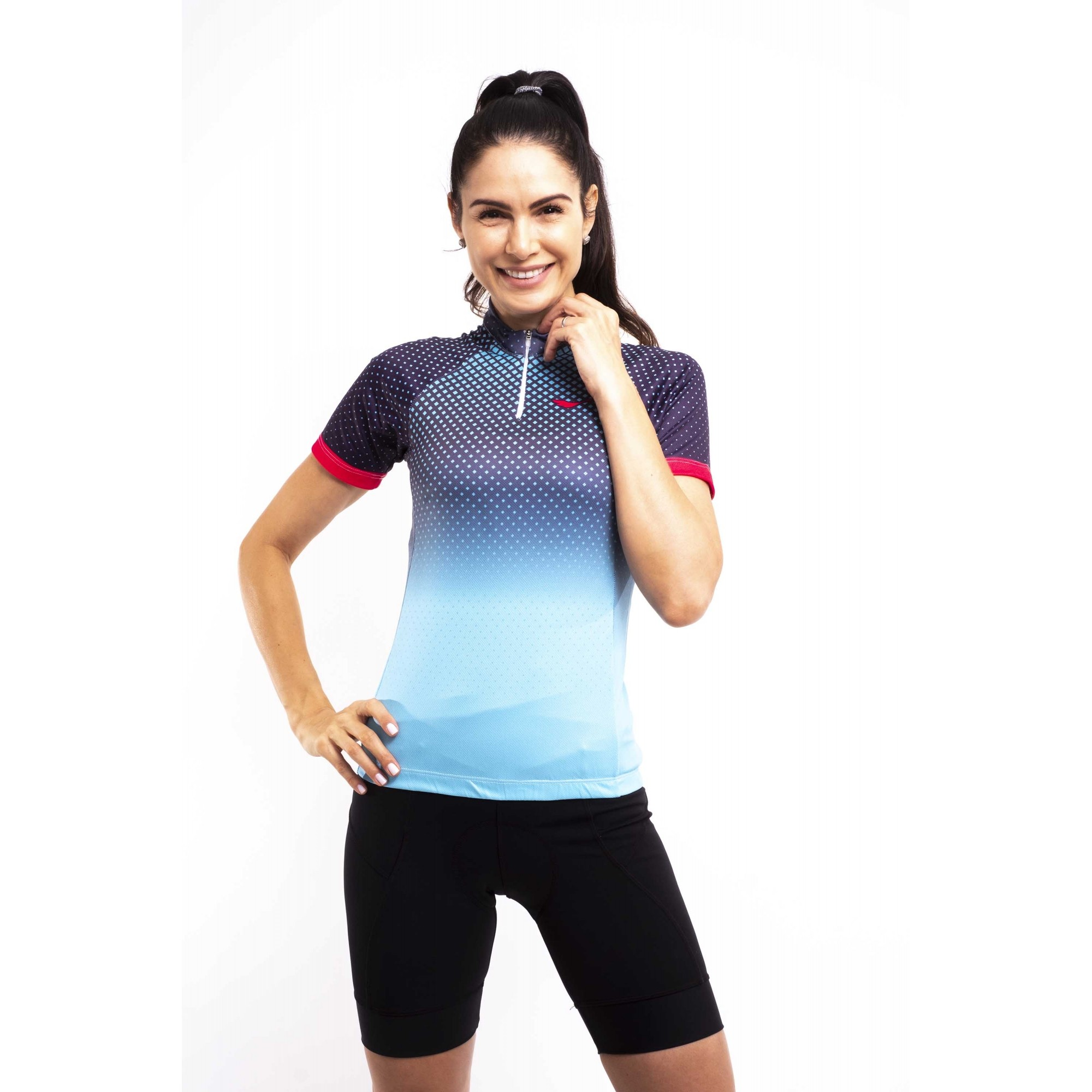 Camiseta Feminina Ciclismo Celestial c/ Proteção UV - Scape