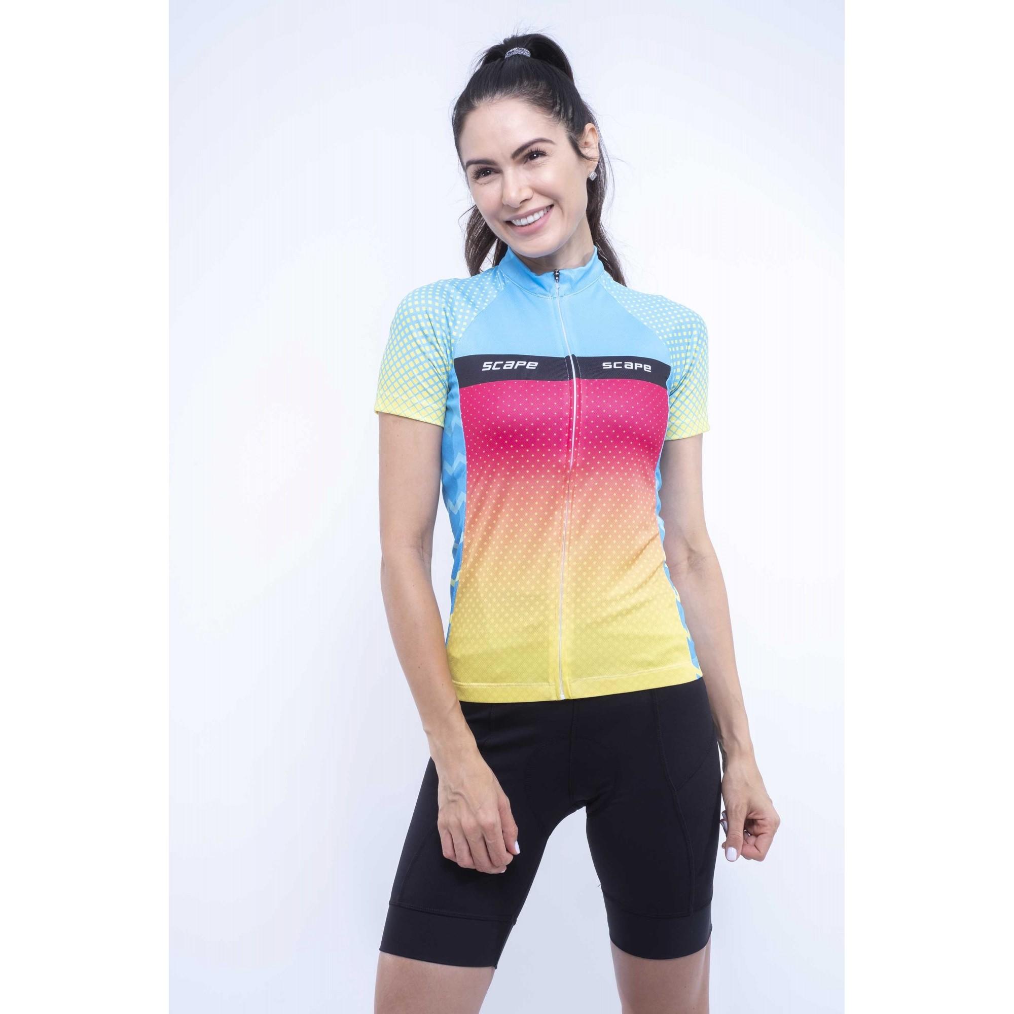 Camiseta Feminina Ciclismo Happy c/ Proteção UV - Scape