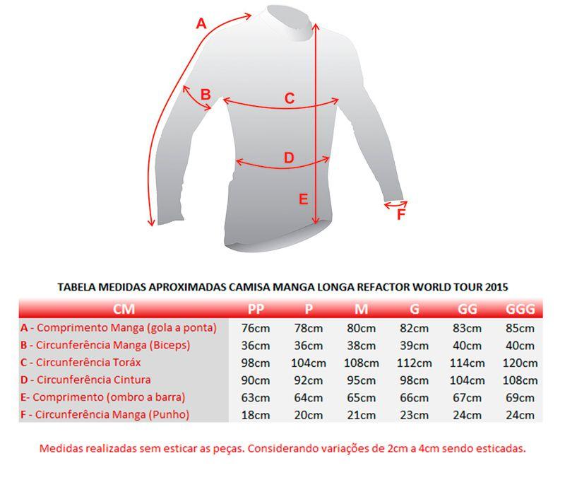 Camiseta Masculina Manga Longa World Tour Sky 2017 - Refactor