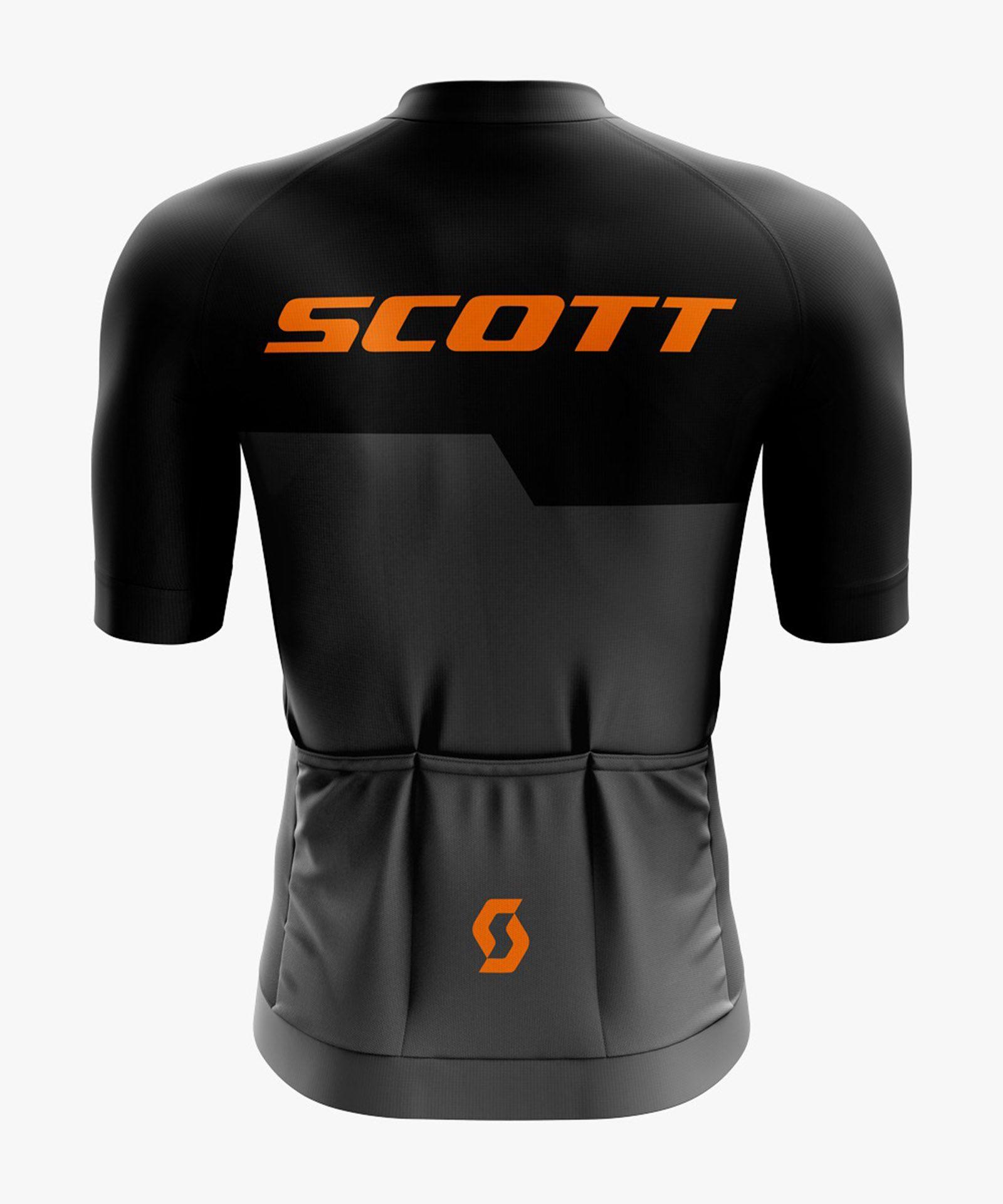 Camiseta Masculina Scott Preto/Laranja - Refactor