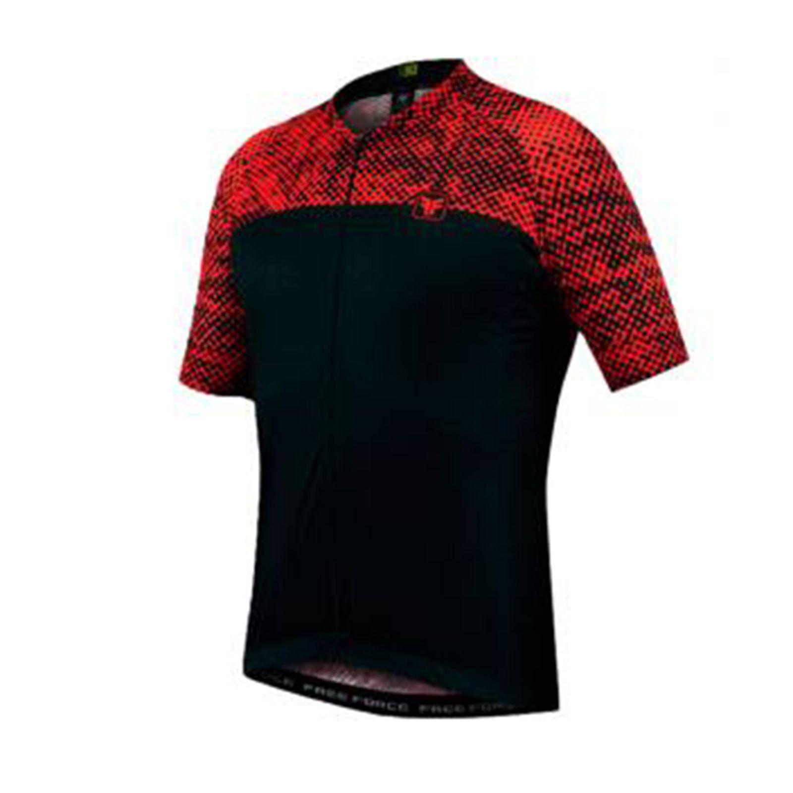Camiseta Masculina Sport Halftone - Preto/Vermelho - Free Force