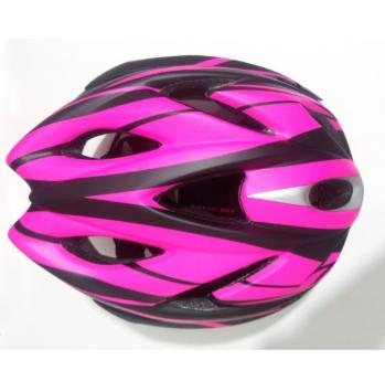 Capacete Ciclismo Nero Preto/Rosa C/ Led Tamanho M - Absolute